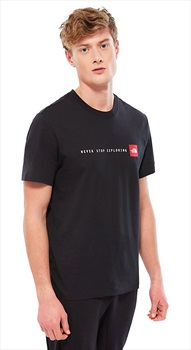 The North Face Never Stop Exploring Short Sleeve T-Shirt, M Black