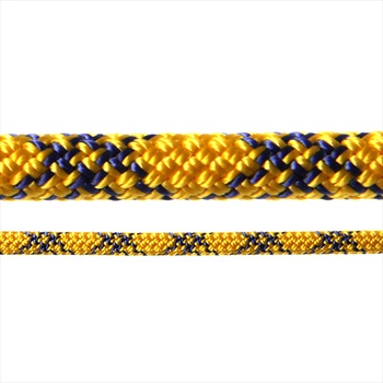 Tendon Ambition Rock Climbing Rope, 50m X 8.5mm, Yellow/Blue