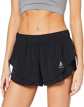 Odlo Zeroweight Split Women's Running Shorts, XS Black