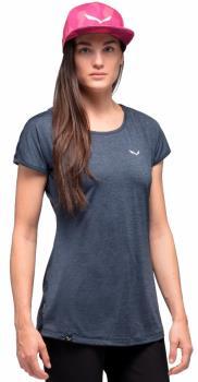 Salewa Womens Puez Melange Dry Women's Rock Climbing T-Shirt, Uk 12 Premium Navy