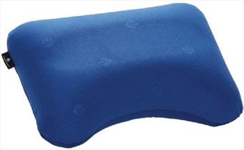 Eagle Creek Exhale Ergo Pillow Inflatable Travel Pillow, Blue Sea