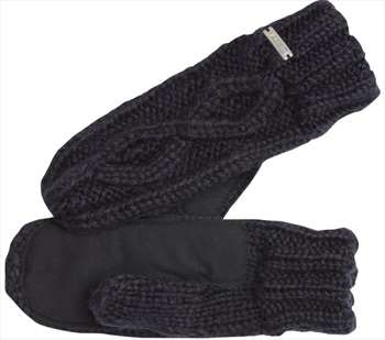 Coal The Bobbie Knit & Suede Mitten, One Size Fits Most Black