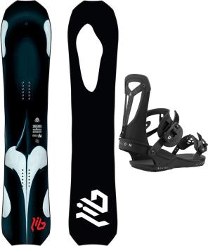 Lib Tech Orca | Union Falcor Snowboard Package, 144cm | M Black