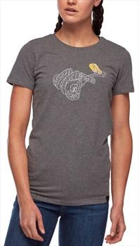 Black Diamond Cam Tee Women's Cotton T-shirt, S Charcoal Heather
