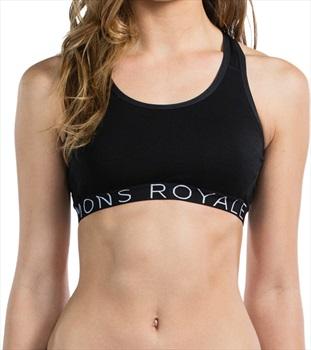 Mons Royale Sierra Women's Merino Wool Sports Bra XS Black