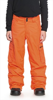 DC Banshee Youth Kid's Ski/Snowboard Pants, M Red Orange