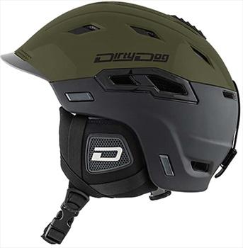 Dirty Dog Crater Snowboard/Ski Helmet, L Black Khaki
