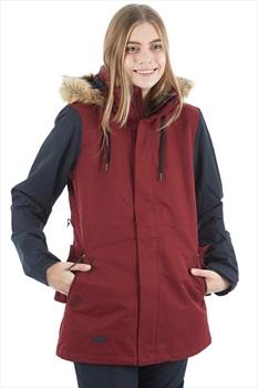 Volcom Fawn Insulated Women's Ski/Snowboard Jacket XS Scarlet