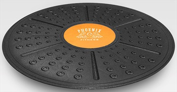 Phoenix Fitness Balance Wobble Board, 36cm Black/Orange