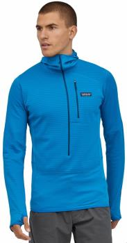Patagonia R1 Fleece Pullover Hoody Mid Layer, XL Andes Blue