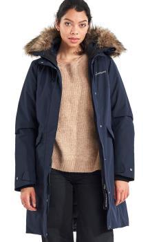 Didriksons Erika Women's Waterproof Parka Jacket, 36 Dark Night Blue
