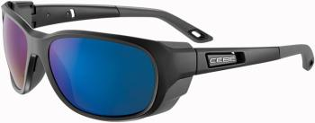 Cebe Everest Sunglasses, OS Matte Black/Peak Grey/Blue