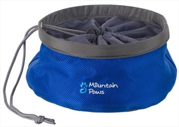 Mountain Paws Collapsible Dog Food Bowl Travel Pet Bowl, Small Blue
