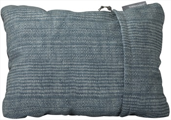 ThermaRest Compressible Travel Pillow Camping Pillow, L Blue Woven
