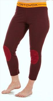Ortovox Rock'n'Wool Short Women's Thermal Pants, S Dark Blood Blend