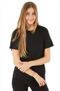 Silkbody Silkspun Women's S/S Baselayer Top, XL Black