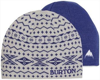 Burton Belle Reversible Girl's Ski/Snowboard Beanie, Stout White/Royal