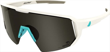 Melon Adult Unisex Alleycat Smoke Performace Sunglasses, M/L White/Turquoise
