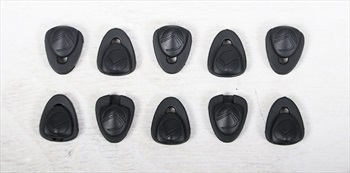 Liquid Force Lace Clip Locks For Wakeboard Bindings, Pack 10 Black
