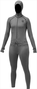 Airblaster Womens Merino Ninja Thermal Base Layer Suit, L Black