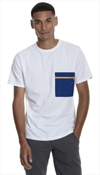 Berghaus Drakestone Pocket Short Sleeve T-Shirt, L White/Sodalite Blue