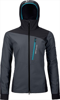 Ortovox Pala Women's Softshell Jacket, UK 8 Black Steel