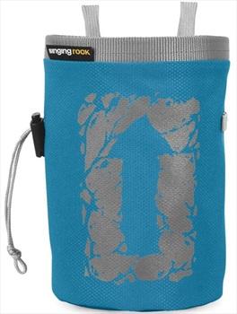 Singing Rock Large Arrow Rock Climbing Chalk Bag, Blue Block Print