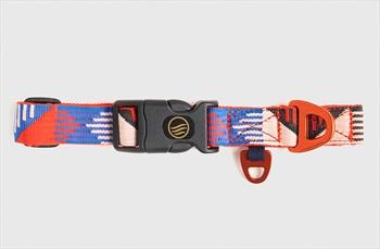 United By Blue Woven Dog Collar Webbing Pet Collar, Crimson Eclipse