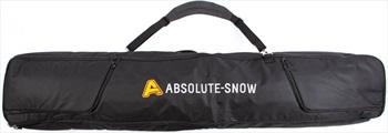 Absolute Deluxe Wheelie Ski/Snowboard Bag, 160cm All Black