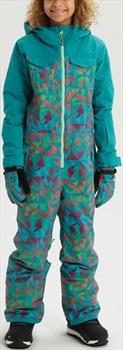 Burton Girls Game Piece Snow/Ski Suit One-Piece M Green Blue Morse Geo