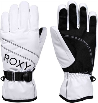 Roxy Jetty Solid Women's Snowboard/Ski Gloves, L Bright White