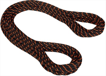 Mammut 8.7mm Alpine Sender Dry Rope Rock Climbing Rope, 50m X 8.7mm Black-Safety Orange