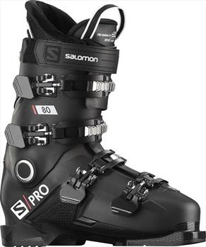 Salomon S/PRO 80 Ski Boots, 27/27.5 Black/Belluga/Red 2020