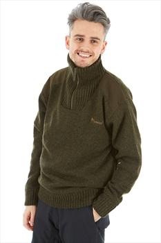 Pinewood Hurricane Half Zip Sweatshirt, M Dark Green
