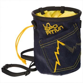 La Sportiva Jeans Rock Climbing Chalk Bag, One Size Blue Denim