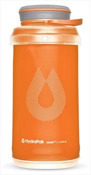 HydraPak Stash Bottle Collapsible Water Bottle, 1L Mojave Orange