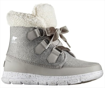 Sorel Explorer Carnival Women's Snow Boots, UK 7.5 Dove/White