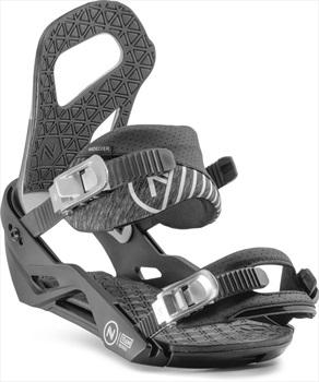 Nidecker Adult Unisex Team Snowboard Bindings, S/M Black/Grey 2020