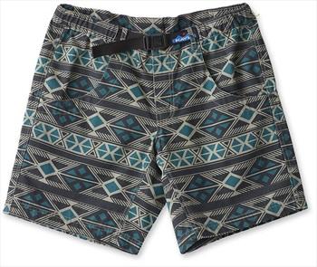 Kavu Chilli Lite Elastic Waist Cotton Hiking Shorts, L Graphic Stripe