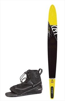 "O'Brien Siege Slalom Water Ski+Binding Package, 66"" | Titan M-L Yellow"