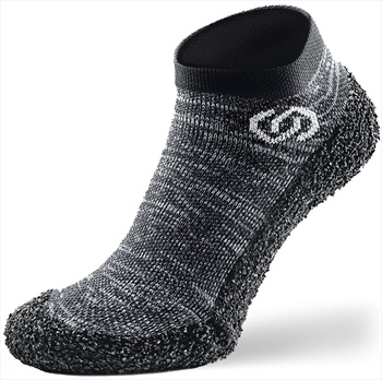 Skinners Athleisure Bare Foot Running Shoe Sock, XXL Granite Grey