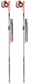 Leki Micro Trail Vario Compact Trail Running Poles, Grey/Red