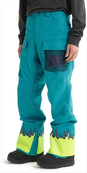 Analog Mortar Ski/Snowboard Cargo Pants, M Green-Blue Slate