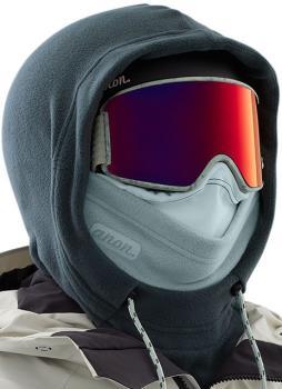Anon Helmet Hood Women's MFI Fleece Facemask, Relaxed Fit Grey
