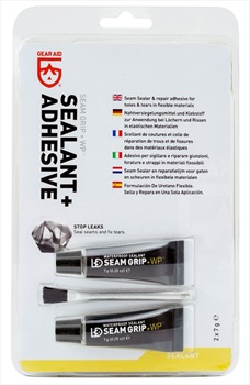 Gear Aid Seam Grip + WP Waterproof Sealant & Adhesive, 2x7g Black