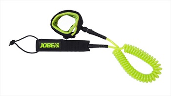 Jobe Coiled Leash For SUP, 10 Ft Black Lime 2021