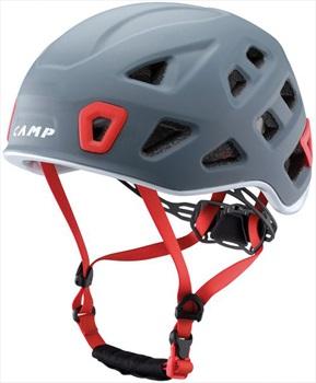 CAMP Storm Rock Climbing Helmet, 48-56cm, Grey/Red