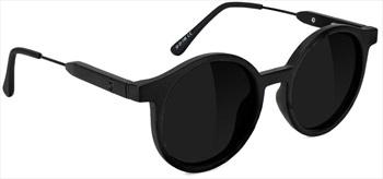 Glassy Sunhaters Robyn Premium Black Polarized Sunglasses, Matte Black