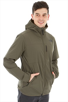 The North Face North Dome 2-Stretch Wind Climbing Jacket, L Green