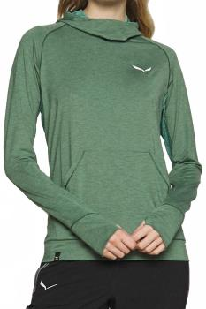 Salewa Womens Puez Melange Dry Women's Technical Hoodie, Uk 14 Feldspar Green
